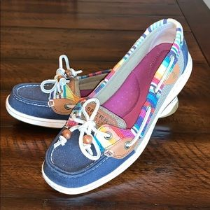 Multicolored Sperry Shoes